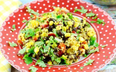 Southwestern Black Bean, Quinoa and Mango Salad (Vegan, Gluten-Free)