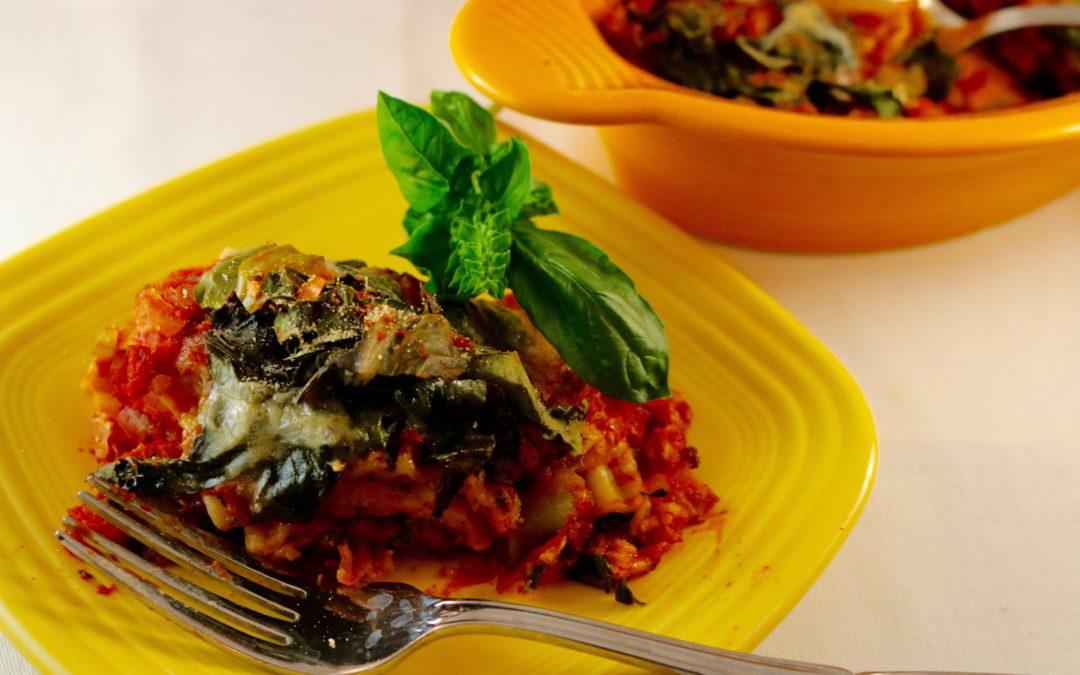 Swiss Chard Basil Lasagna (Vegan)