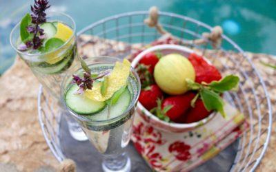 Cucumber Herb Champagne Sparkler (Vegan, Gluten-Free)