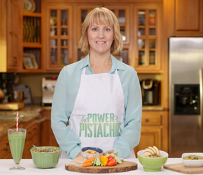 Sharon Palmer in the kitchen