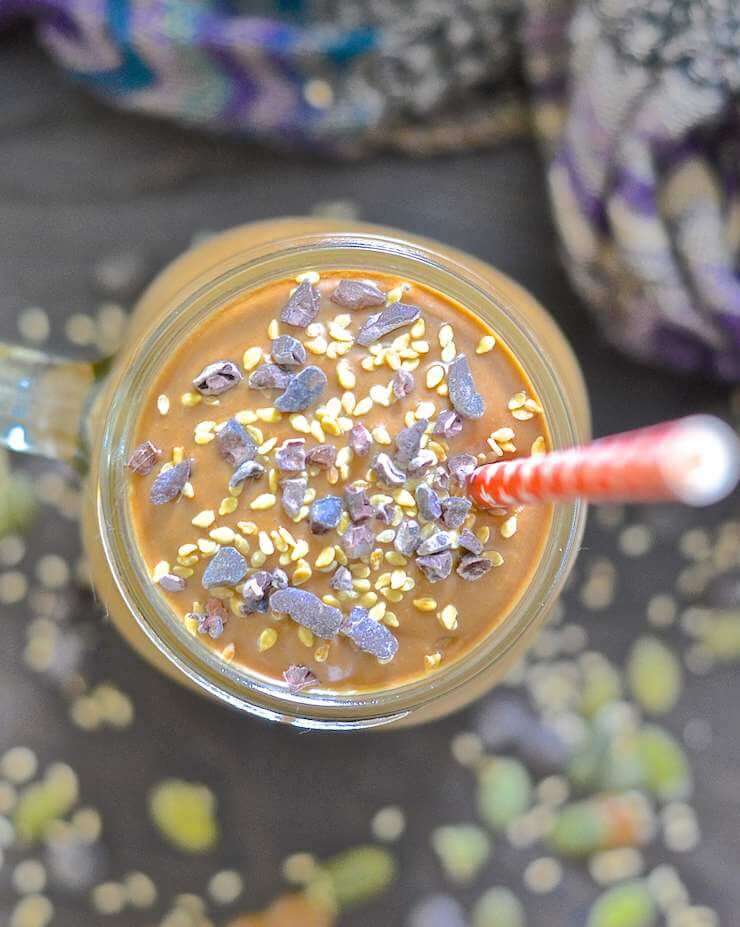 chocolate-tahini-pumpkin-smoothie-5