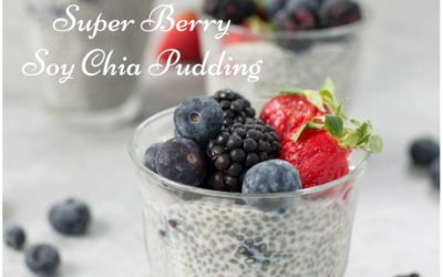 Super Berry Soy Chia Pudding (Vegan, Gluten-Free)