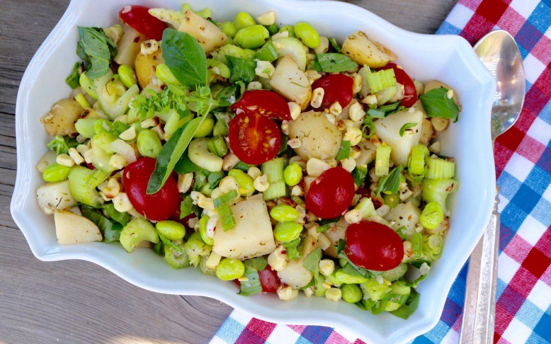 Roasted Corn and Potato Succotash Salad (Vegan, Gluten-Free)