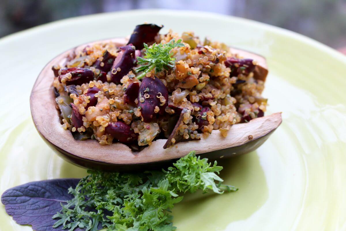 Miso Quinoa Stuffed Eggplant (Vegan, Gluten-Free) - Sharon ...