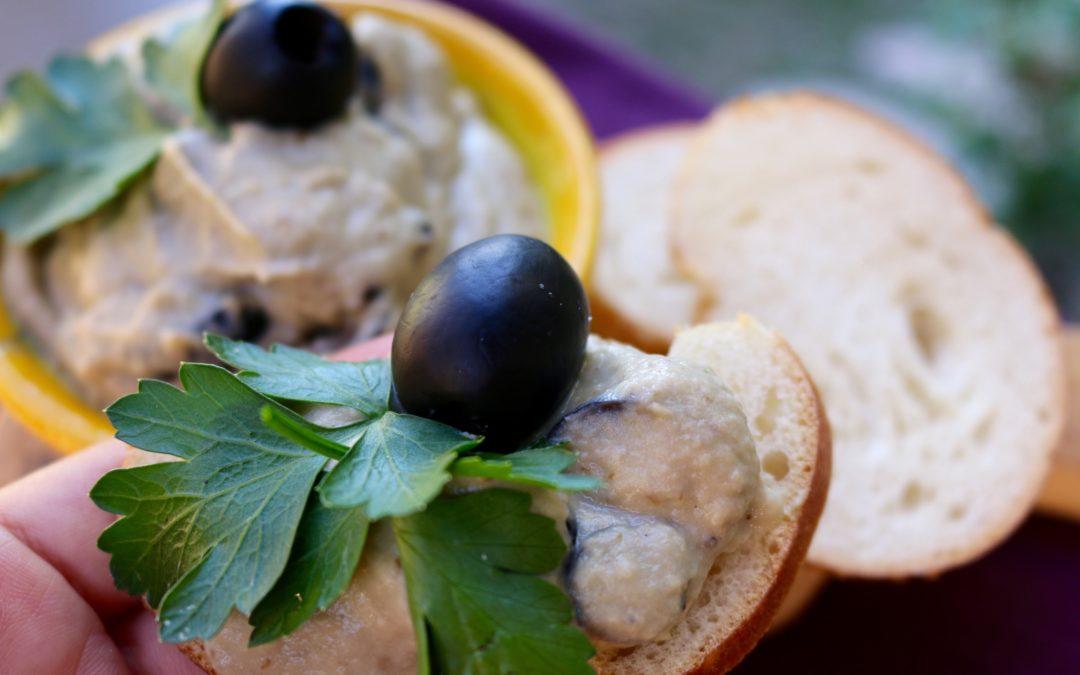 Smoky Eggplant Olive Dip (Vegan)