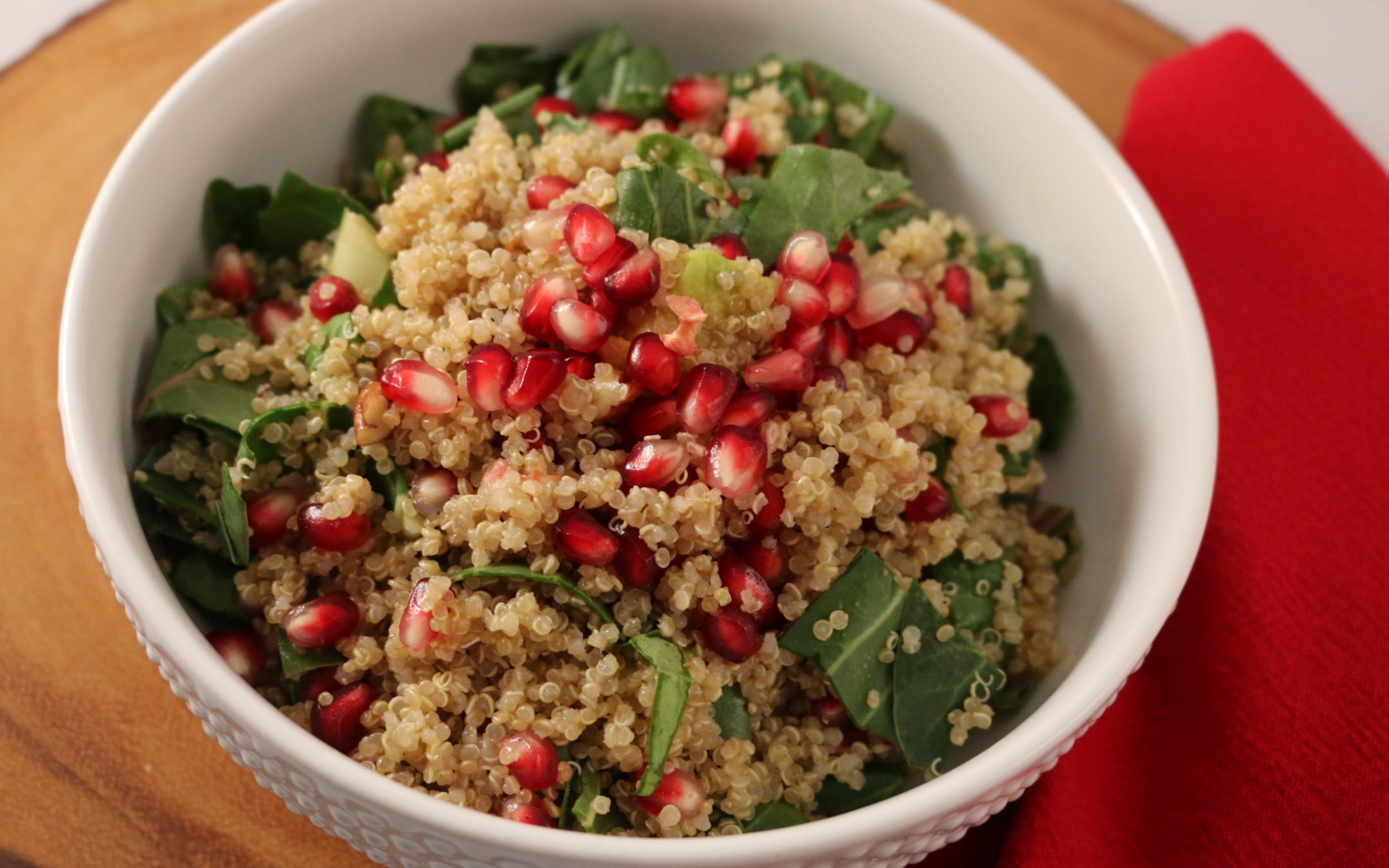 Pomegranate Avocado Quinoa Salad (Vegan, Gluten-Free)