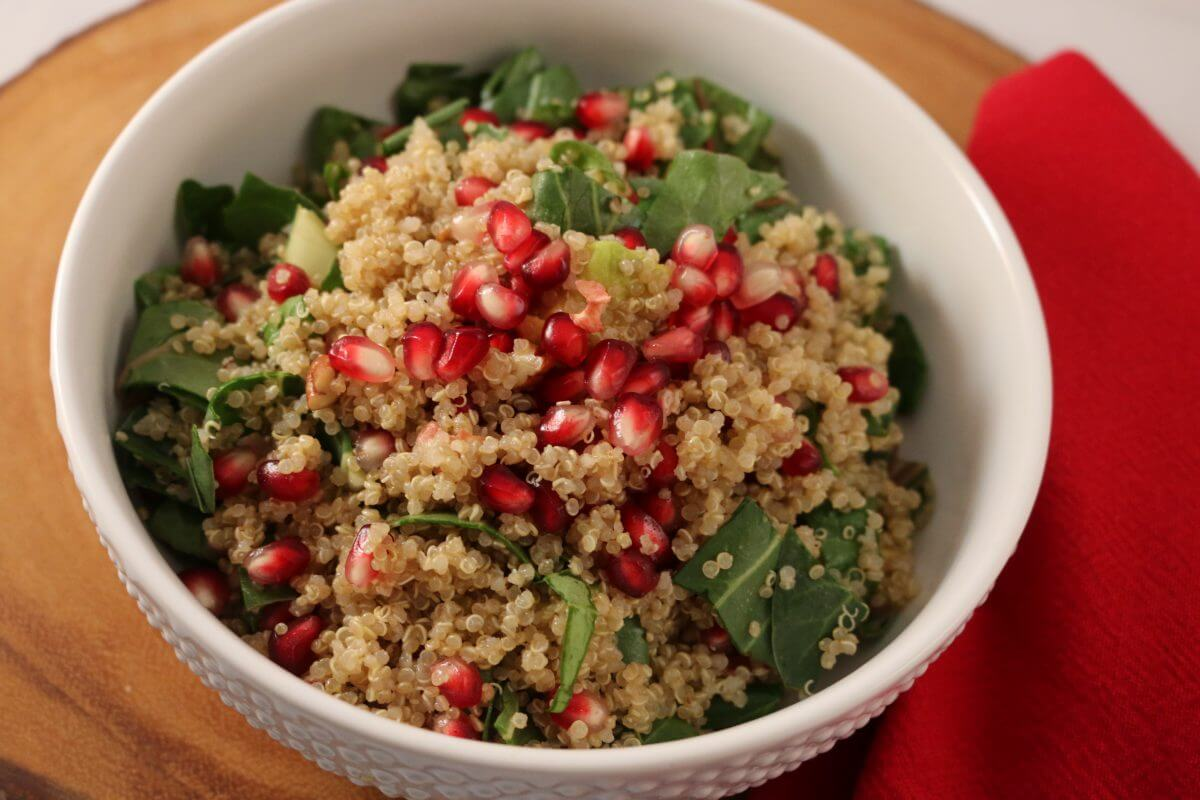 Pomegranate Avocado Quinoa Salad (Vegan, Gluten-Free ...