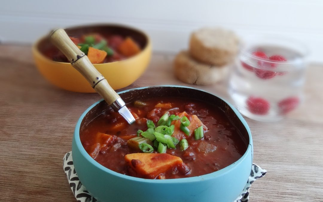 Smoky Chili with Sweet Potatoes (Vegan, Gluten-Free)
