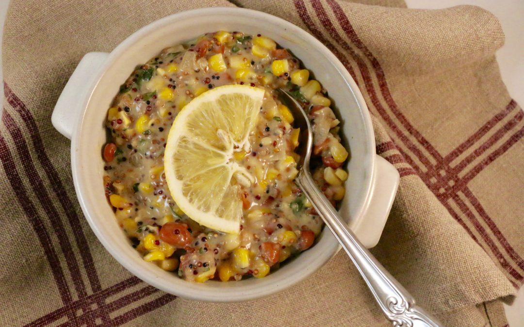 Quinoa Corn Bean Chowder (Vegan, Gluten-Free)