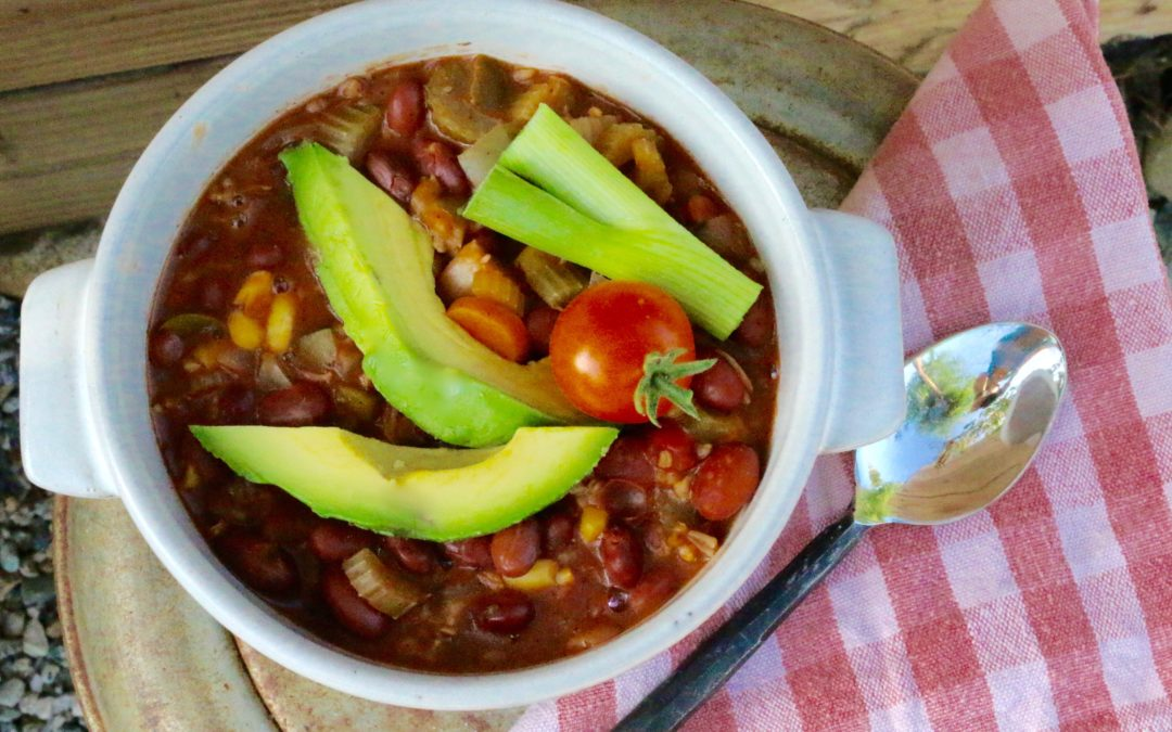 Summer Vegetarian Chili (Vegan, Gluten-Free) - Sharon Palmer