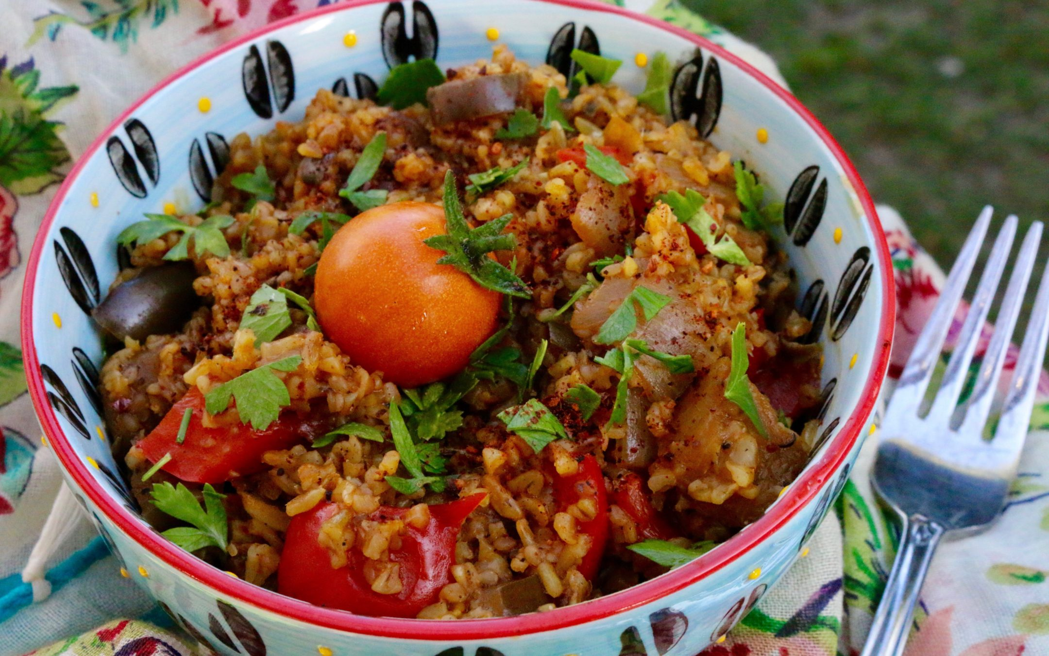 Moroccan Freekeh Pilaf (Vegan) - Sharon Palmer