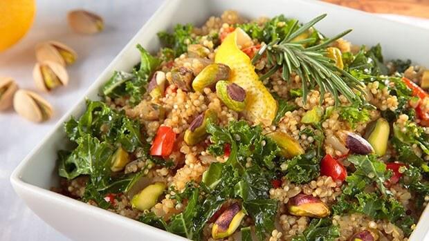 Quinoa Kale Risotto with Pistachios (Vegan, Gluten-Free)