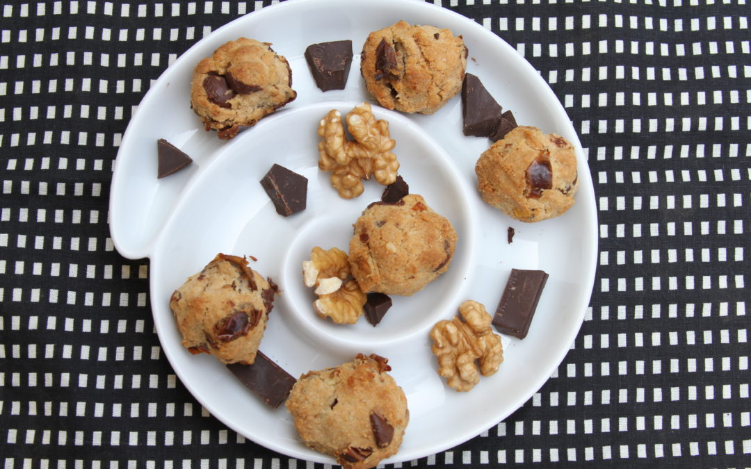 Indio Date, Walnut and Dark Chocolate Cookies