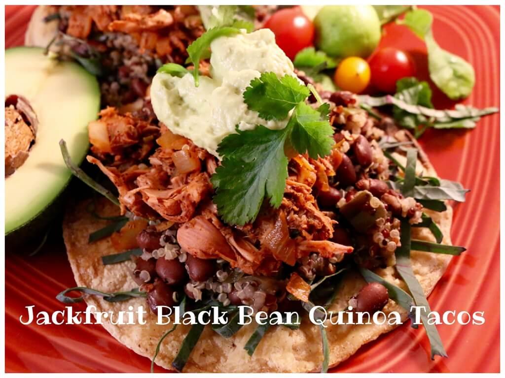 Jackfruit Black Bean Quinoa Tacos (Vegan, Gluten-Free)