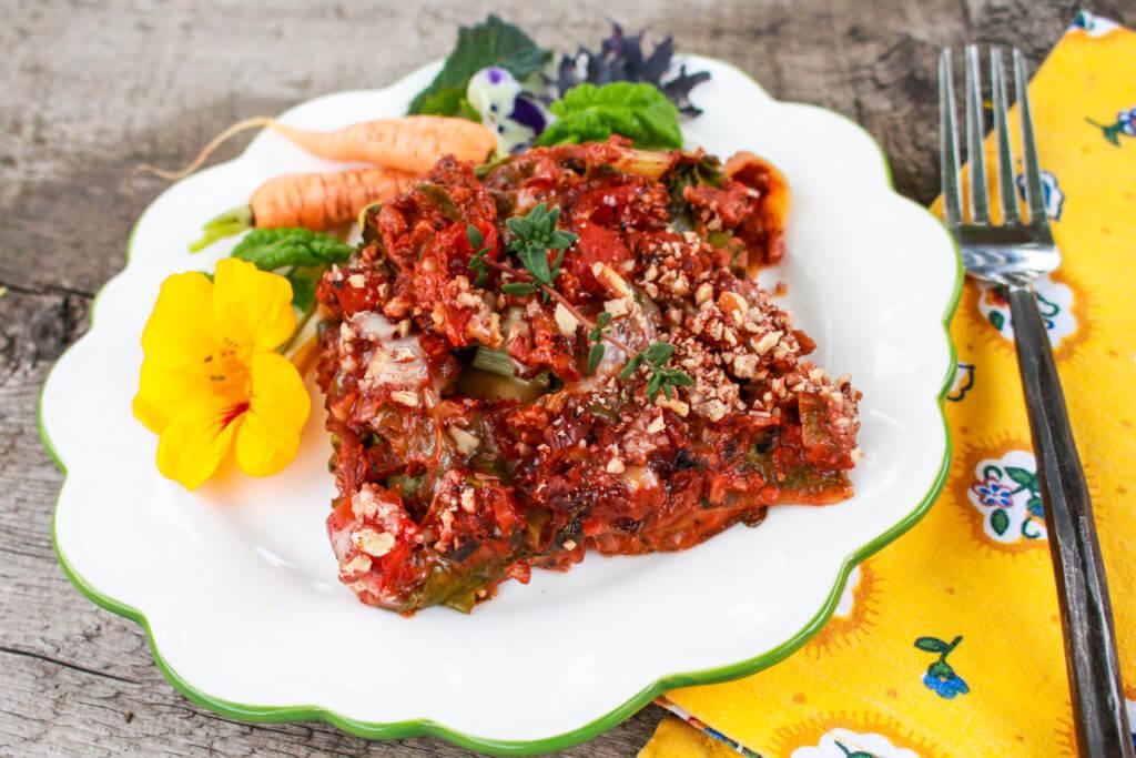 Swiss Chard Pecan Lasagna