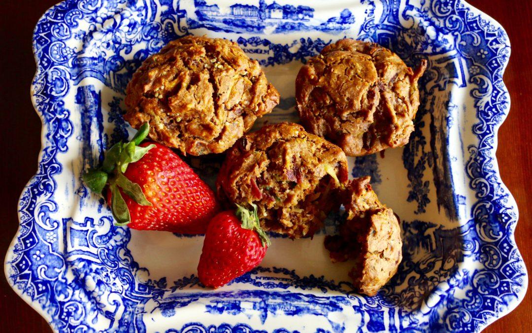 Zucchini Carrot Spice Muffins (Vegan)