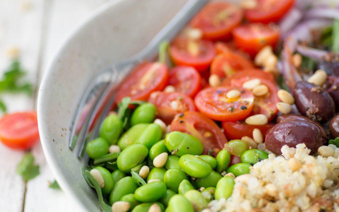 Mediterranean Edamame Quinoa Bowl (Vegan, Gluten-Free)