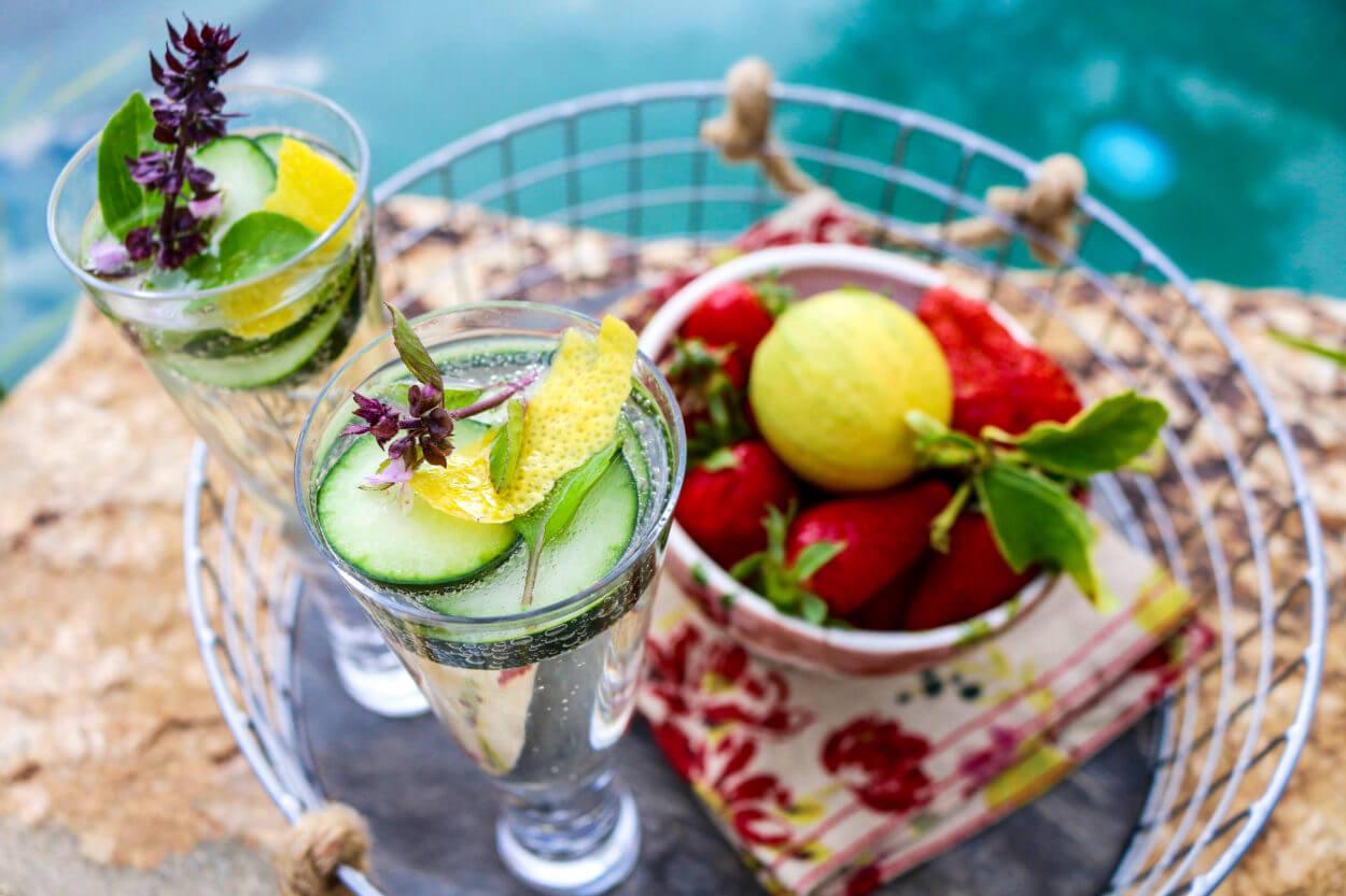 Cucumber Herb Champagne Sparkler Vegan Gluten Free The Plant