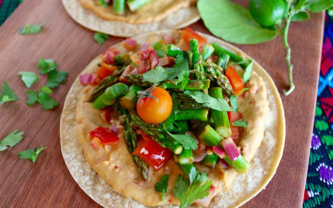 Spicy Hummus Veggie Tacos (Vegan, Gluten-Free)