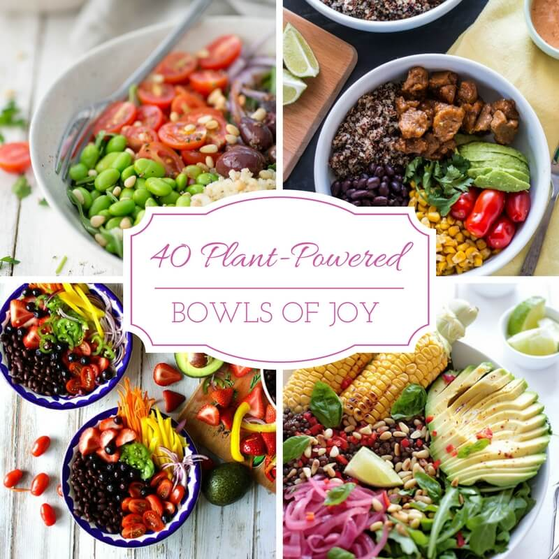 40 Plant-Powered Bowls of Joy Recipe Roundup