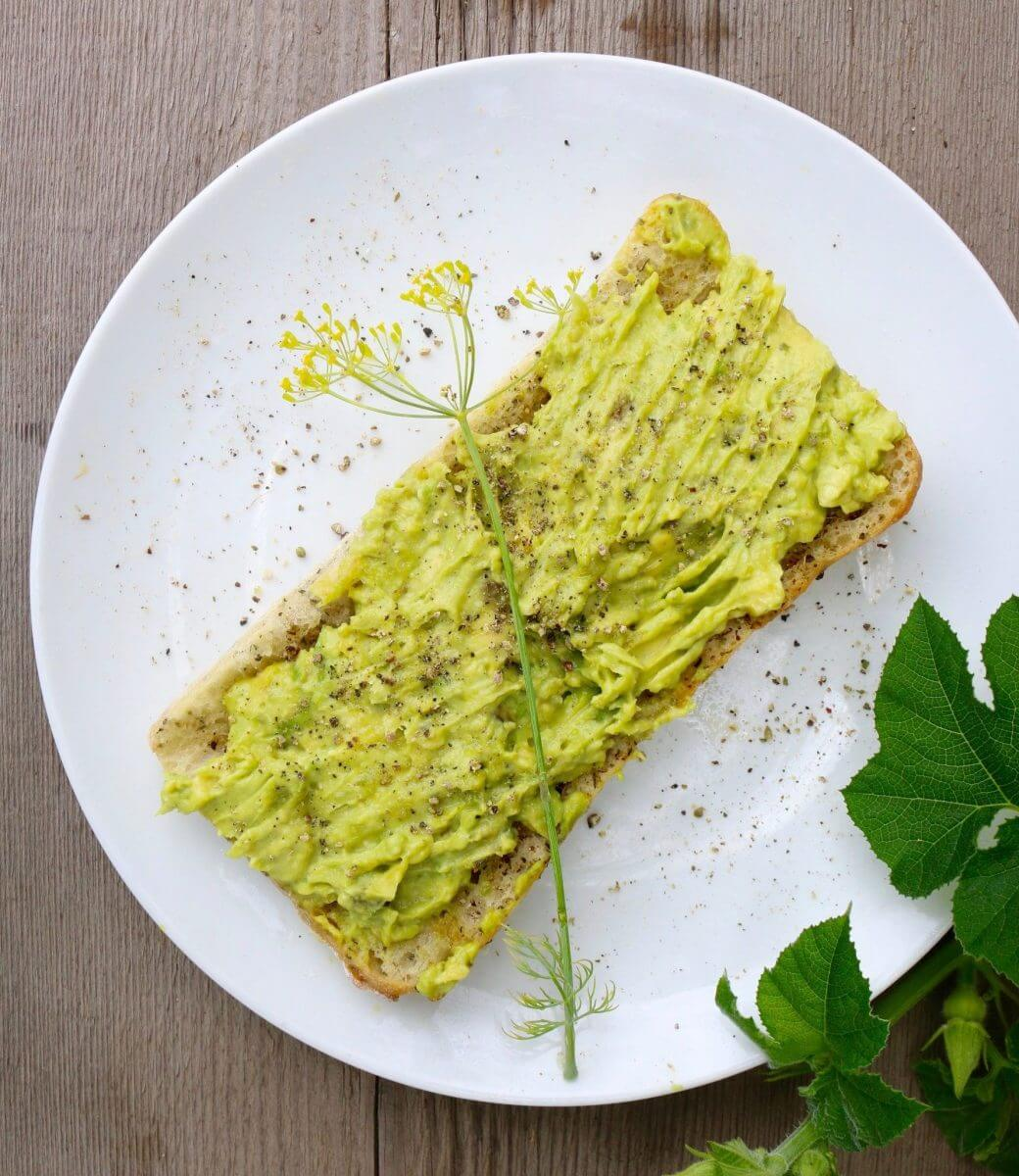 Rustic Avocado Garlic Toast (Vegan) - Sharon Palmer