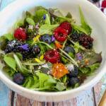 Flower Power Salad on Seven Roses