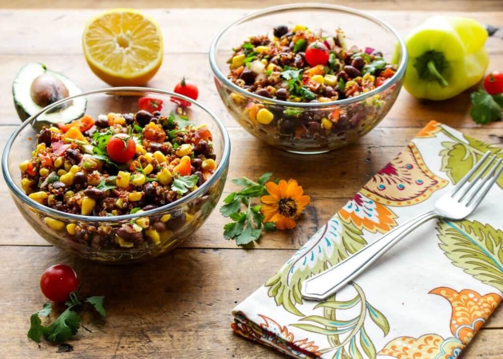 Southwestern Black Bean, Quinoa and Mango Salad