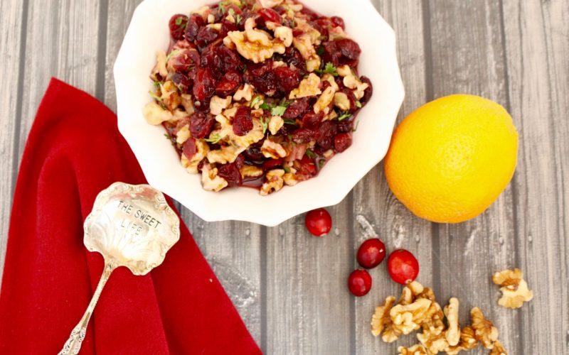 Cranberry Walnut Relish (Vegan)