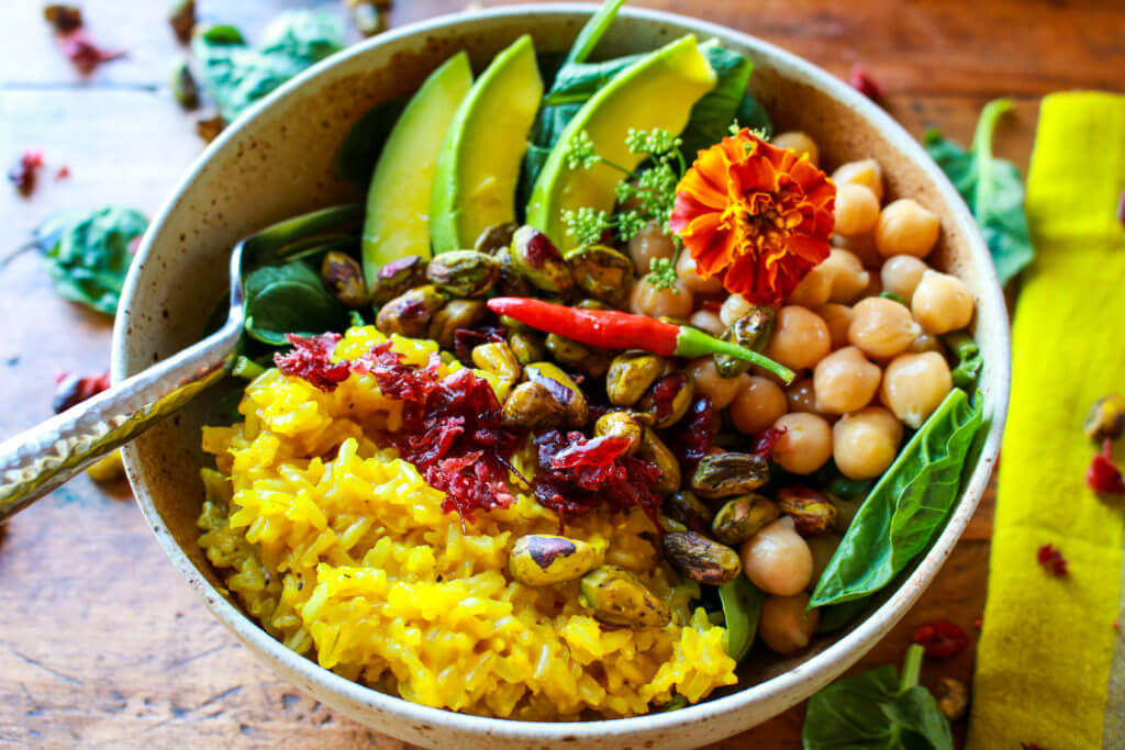 Pistachio Turmeric Rice Power Bowl