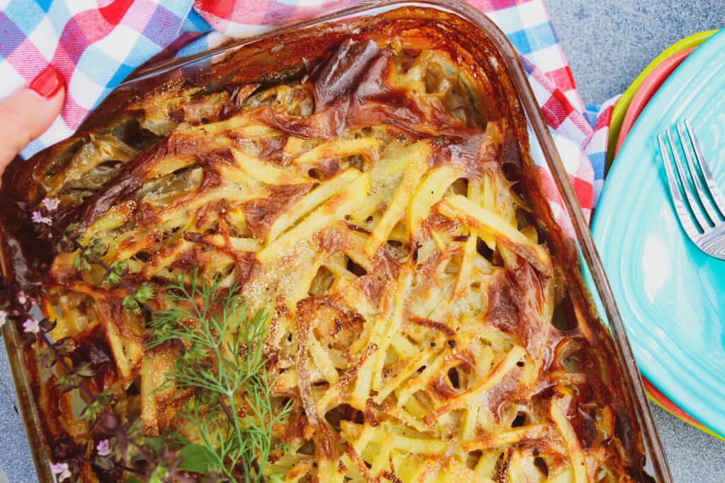 Vegan Jansson's Temptation (Swedish Potato Casserole)
