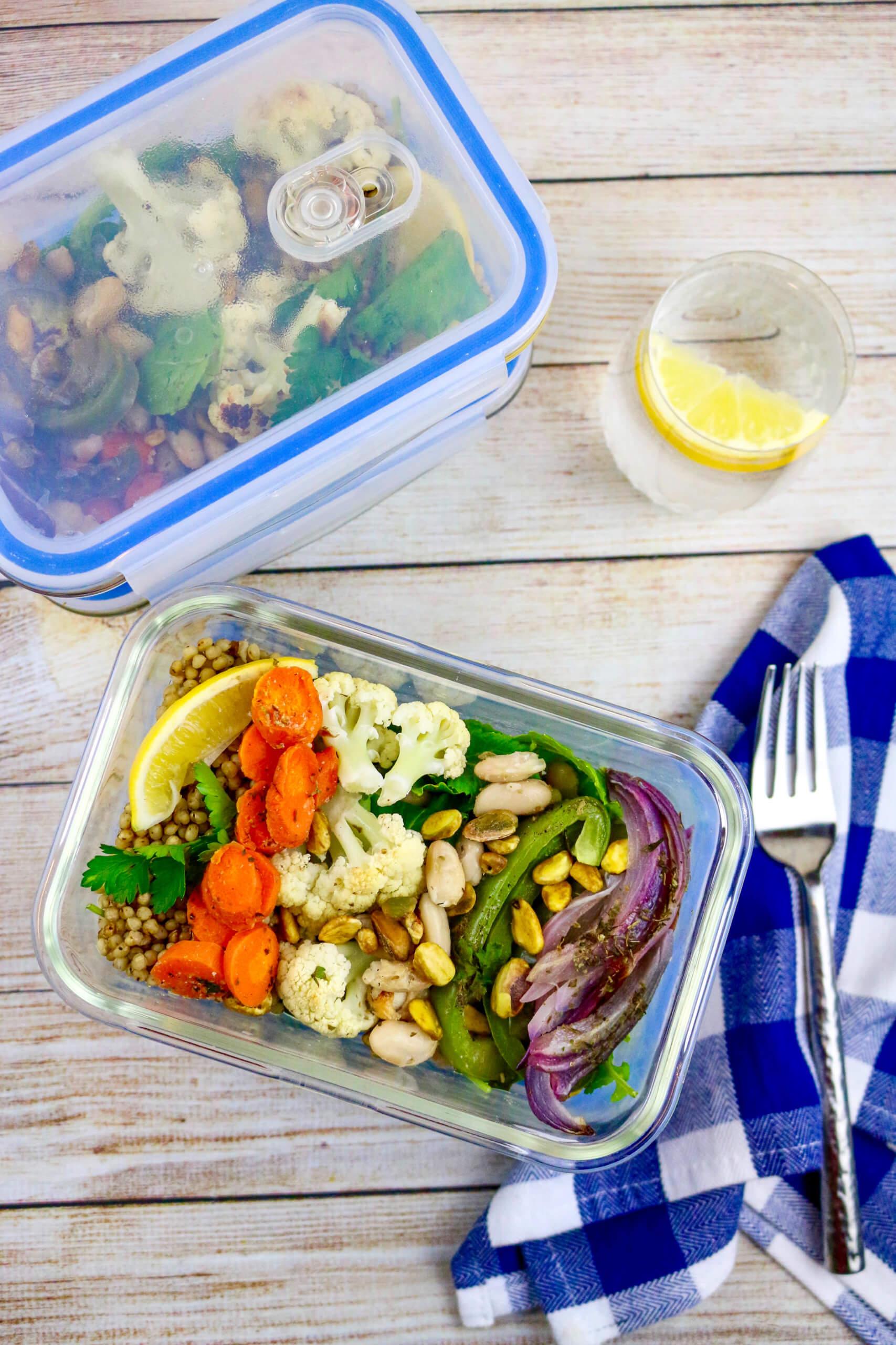 Mediterranean Bean and Sorghum Salad Meal Prep