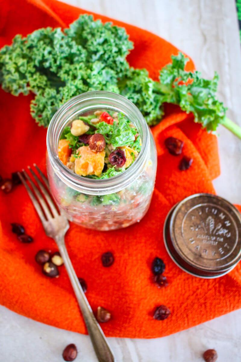 Butternut Squash Kale Barley Salad