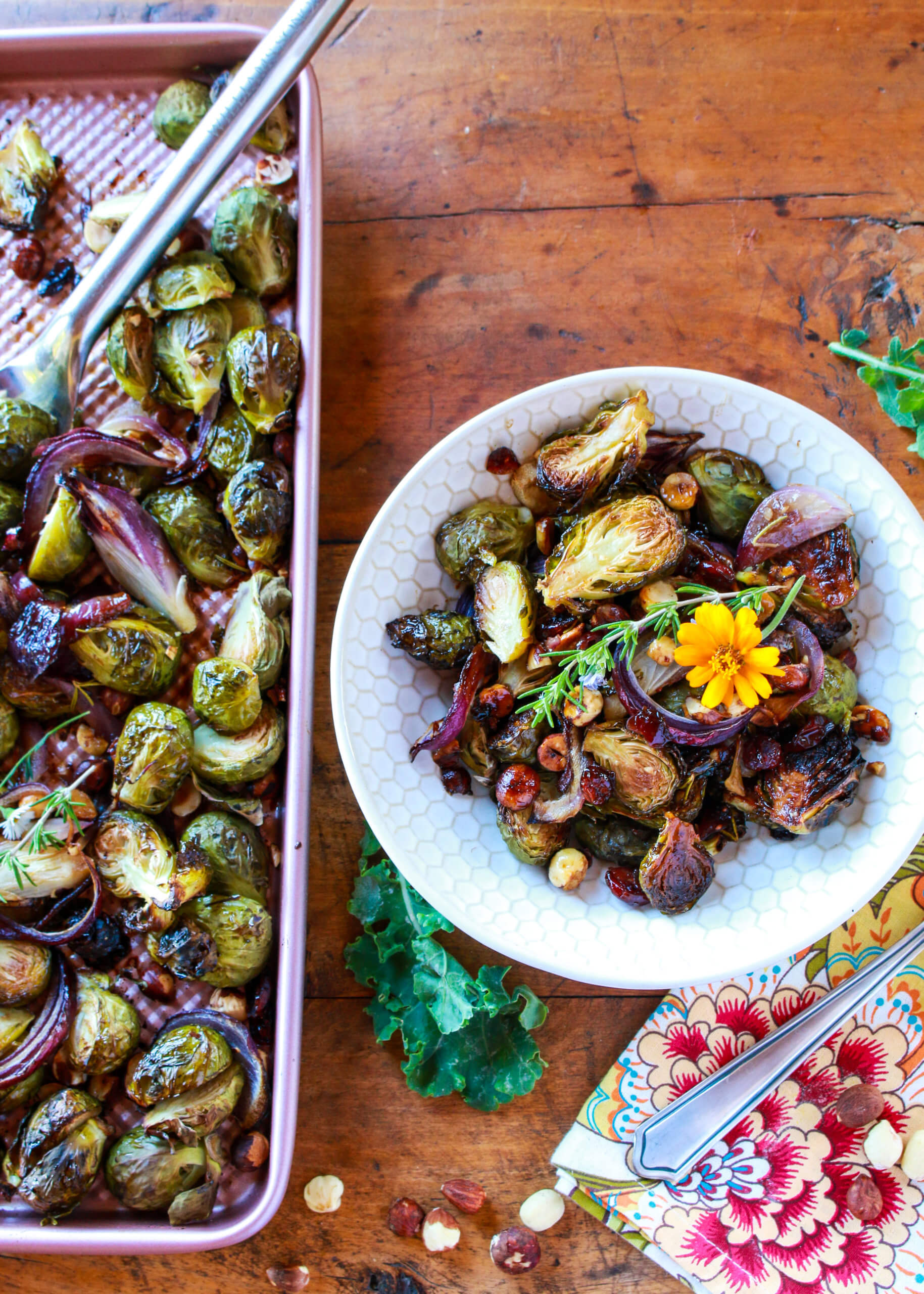 Maple And Balsamic Roasted Brussels Sprouts Sharon Palmer The Plant Powered Dietitian