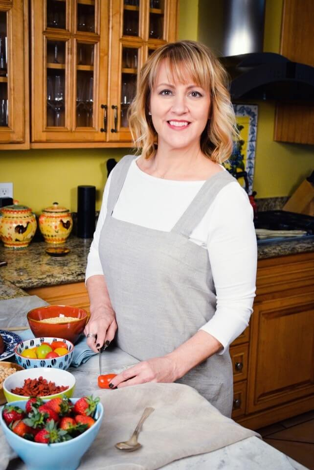Sharon Palmer headshot kitchen