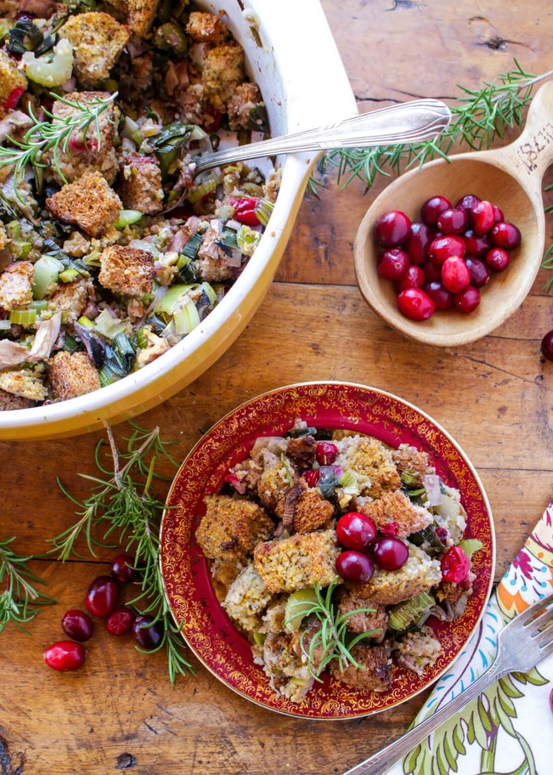 Rosemary Cranberry Cornbread Stuffing